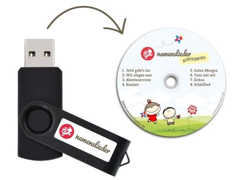 Namenslieder KUNTERBUNT - USB Stick