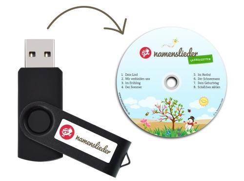 Namenslieder JAHRESZEITEN - USB Stick