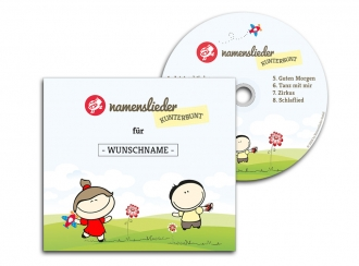 Namenslieder CD Kunterbunt + Set